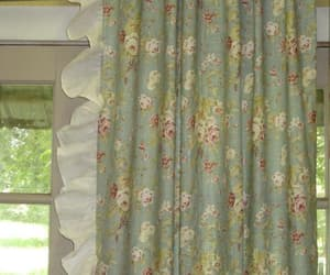 etsy, window treatments, and curtains floral image