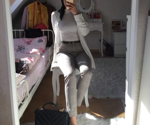 camel, fashion, and ootd image