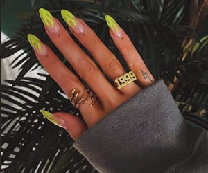 nails, flames, and neon image