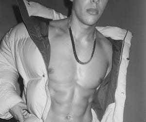 abs, sexy, and black and white image