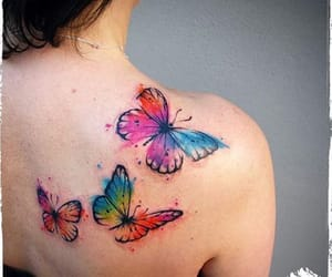 body art, tattoo, and butterfly tattoo image