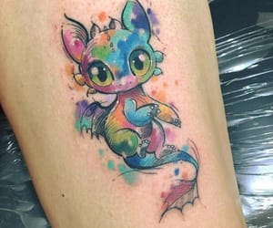 body art, tattoo, and watercolor tattoo image