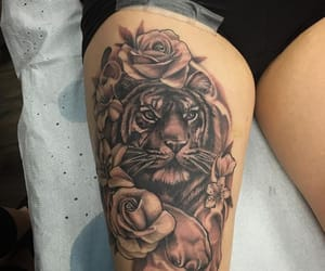black ink, tattoo, and body art image