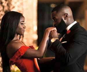 couples, happy, and black love image