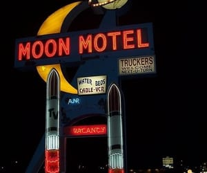 moon, motel, and aesthetic image