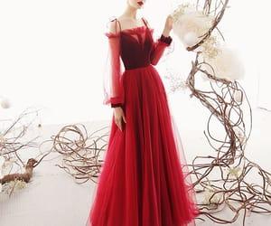 beautiful dress, evening dress, and girl image