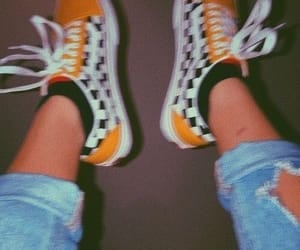 vans, aesthetic, and yellow image