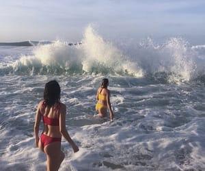 best friends, friendship, and ocean image