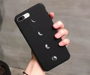 iphone, black, and moon image