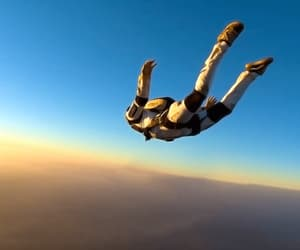 adventure, skydiving, and freedom image