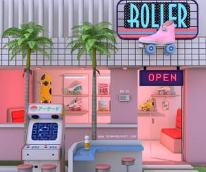80s, retro, and pink image