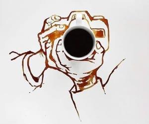 artsy, coffee, and coffee art image