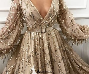 fashion, girl, and sparkly prom dress image
