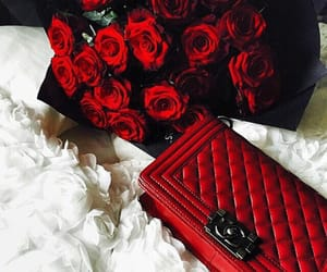 rose, red, and chanel image