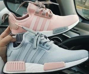 grey, pink, and adidas image