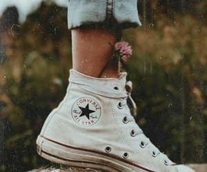 converse, fashion, and flowers image
