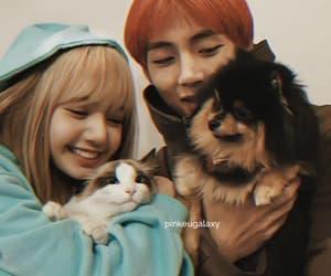 Leo, lisa, and taehyung image