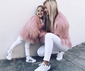 adidas, blonde, and family image