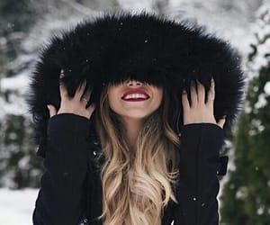cap, coat, and moda image
