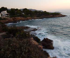 coast, sea, and spain image