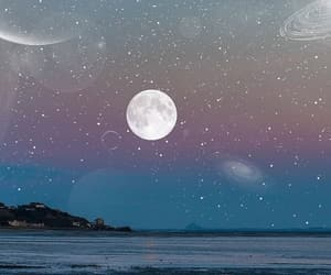 background, moon, and stars image