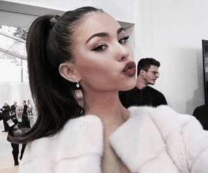 madison beer, makeup, and pink image