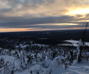 snow, lapland, and beautifulday image