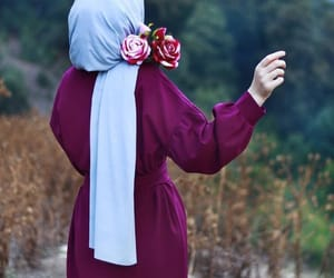 flowers and hijab image