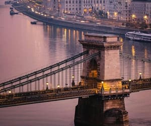 budapest, hungary, and sunrise image