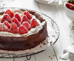 cake, chocolate cake, and dessert time image