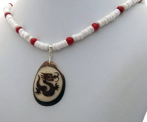 beaded necklace, spirit animal, and animal totem image