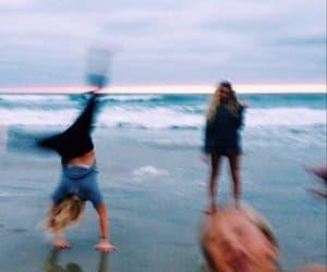 friends, beach, and fun image