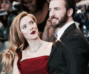 chris evans, Scarlett Johansson, and black widow image