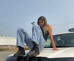 girl, car, and alternative image