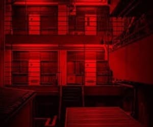 red, aesthetic, and building image