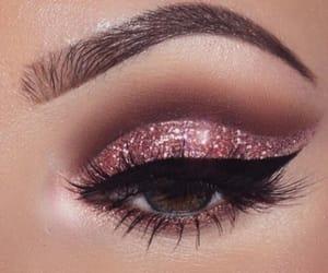 glitter, make up, and pink image