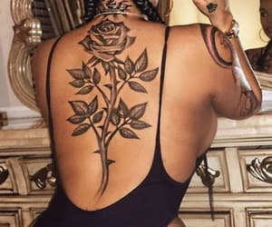 rose, Tattoos, and tatted image