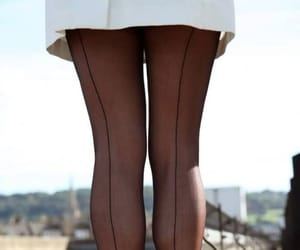 back seam stockings, tights pantyhose, and french paris parisian image