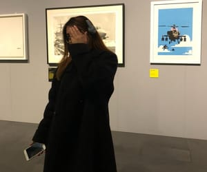 art, BANKSY, and camera shy image