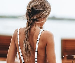 beach, hair, and popular image
