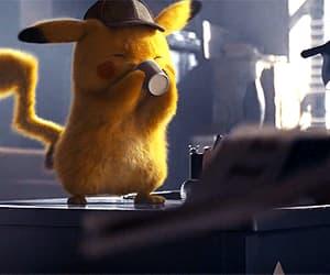 anime, detective pikachu, and gif image