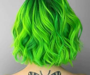 green, hair, and hair dye image