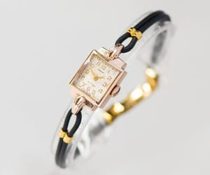 etsy, women watch vintage, and solid gold watch image