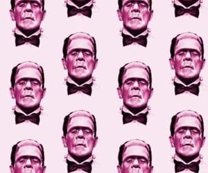 wallpaper, pink, and Frankenstein image