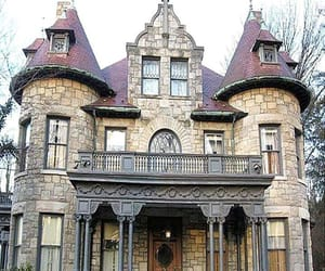 brown, unique, and dream house image