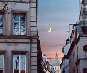 buildings, french, and moon image