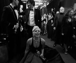 black and white, Lady gaga, and shallow image
