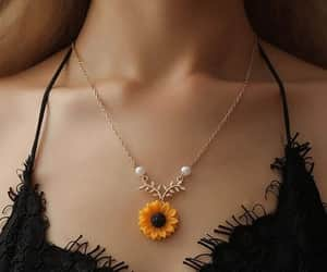 sunflower, jewelry, and necklace image