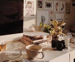 coffee, desk, and home image