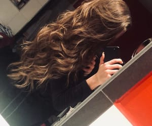 brownhair, curly, and fashion image